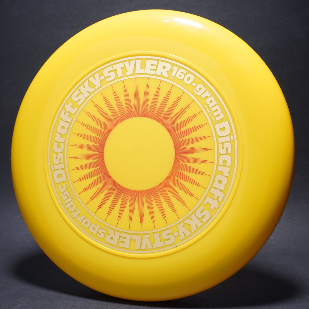 Sky-Styler Sun Yellow w/ Red Matte Sun and Metallic Gold Ring - No Tooling - Top View