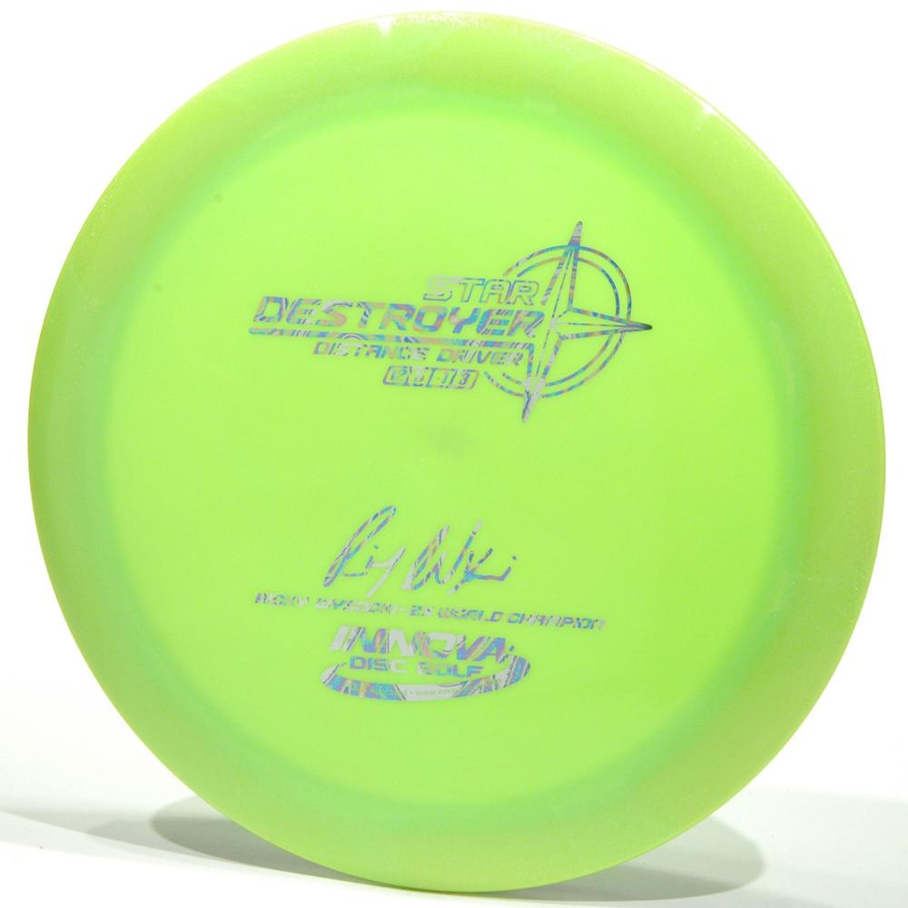 Innova Star Destroyer - Ricky Wysocki Signature 2X Lime Top View