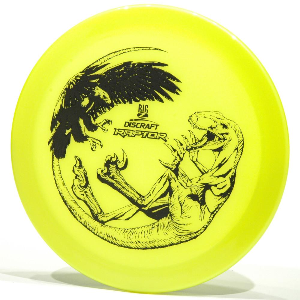 Discraft Raptor (Big Z) Yellow Top View