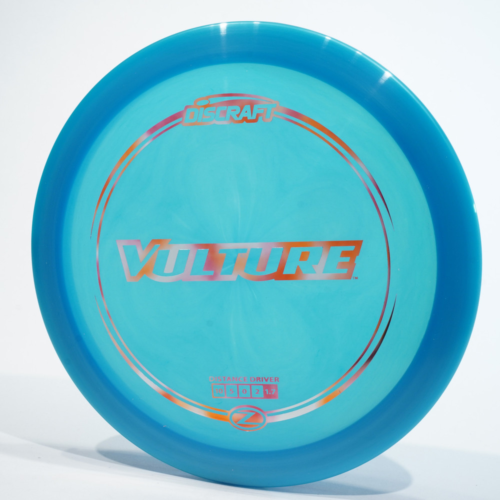 Top view of a blue Discraft Vulture (Z-Line)