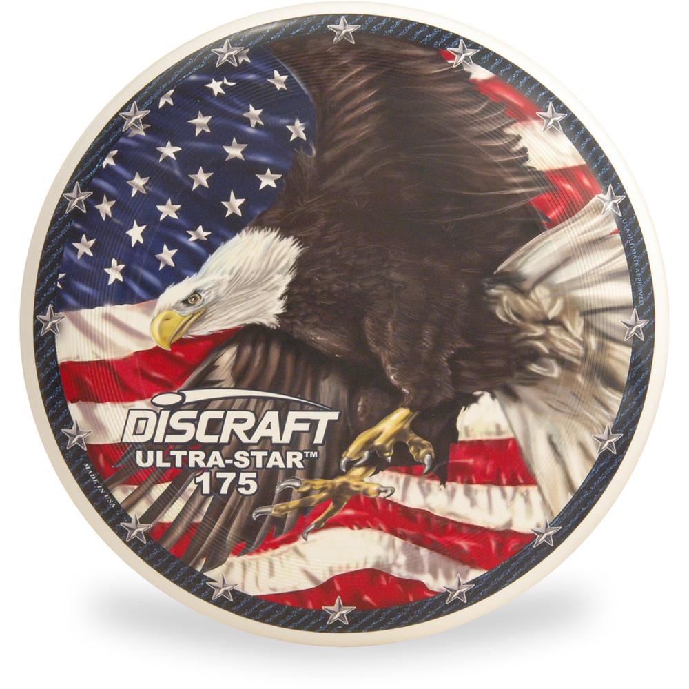 Discraft SUPERCOLOR ULTRA STAR - USA Flag Eagle Design Top View
