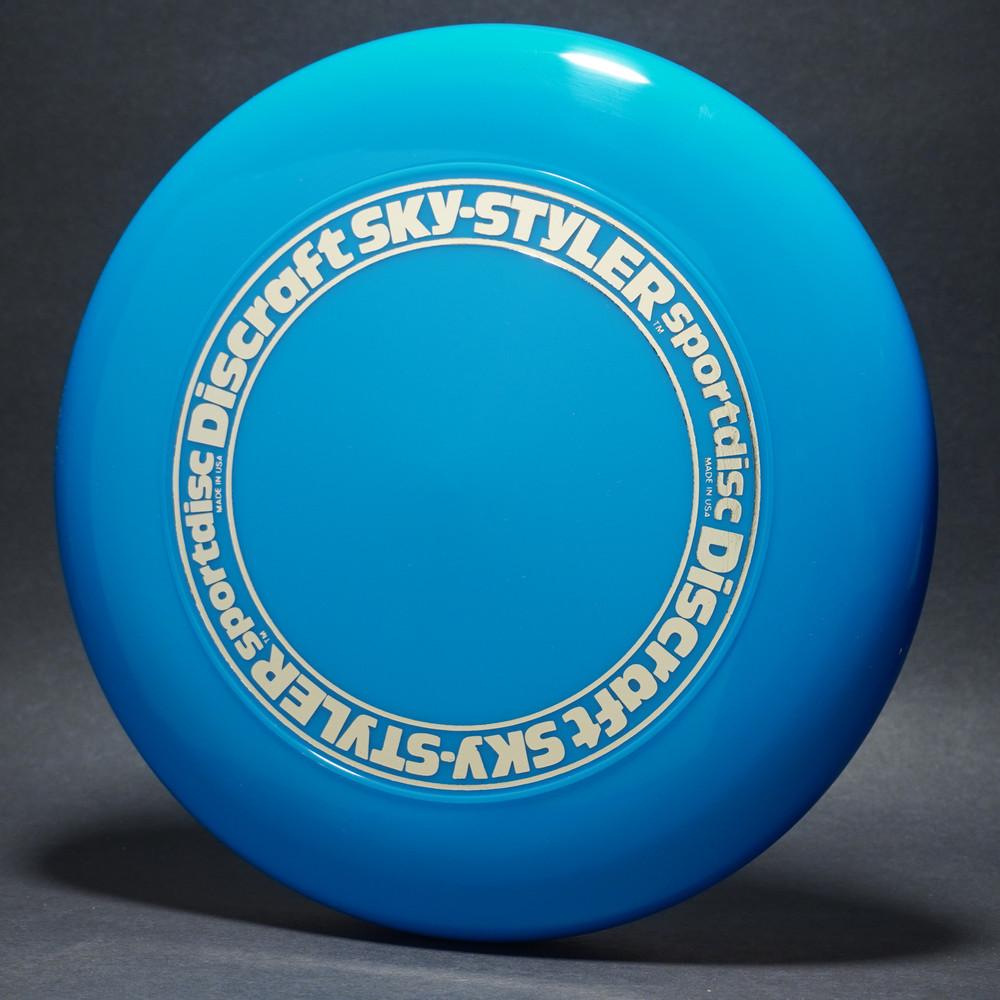 Sky-Styler Stock Open Center Original Stamp Blue w/ Gold Metallic Ring - TR