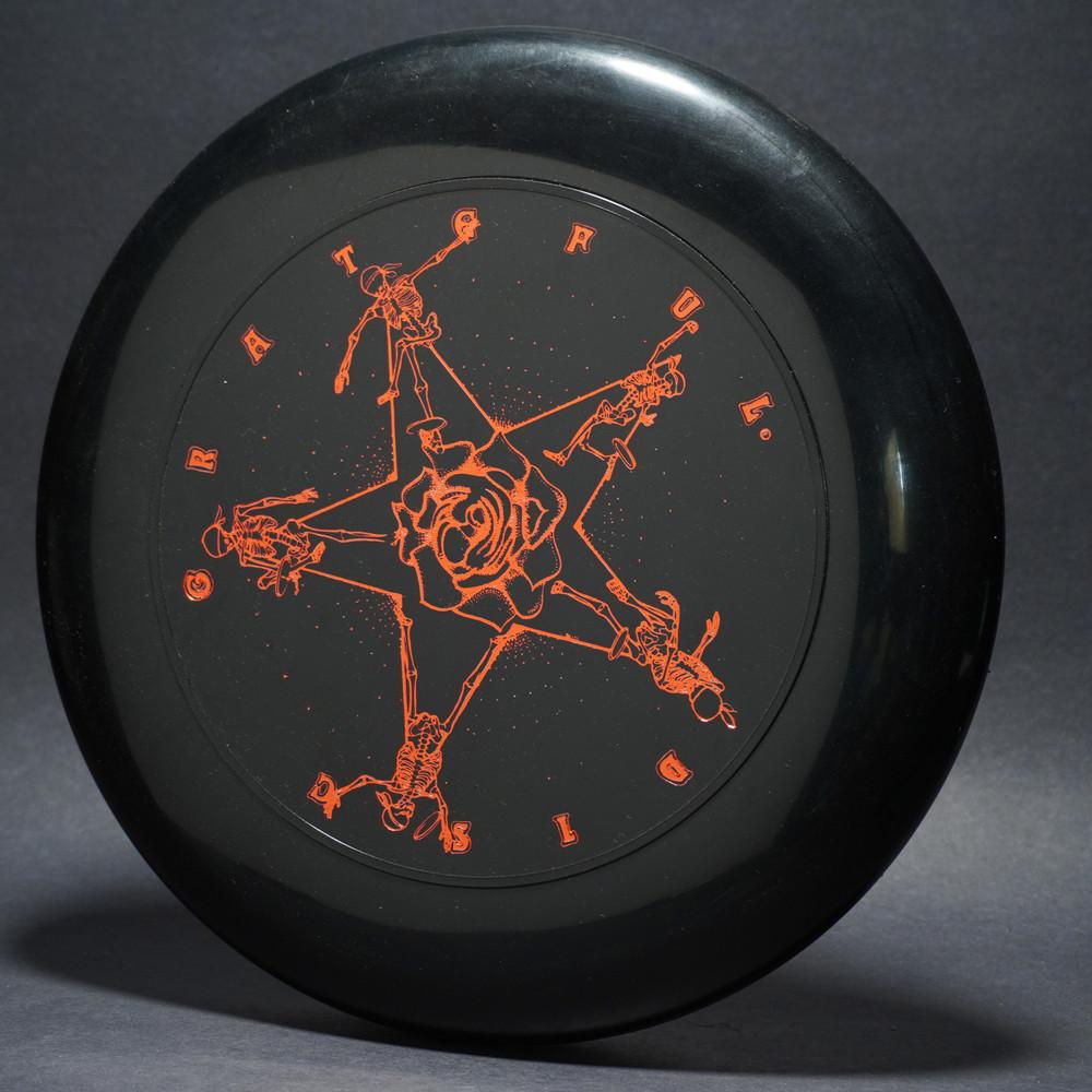 SKY-STYLER GRATEFUL DISC SKELETONS  Black w/  metallic red -T80