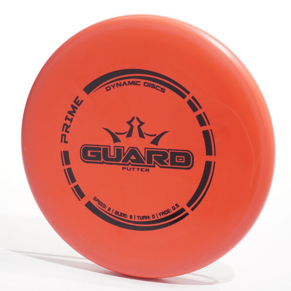 Dynamic Discs Prime GUARD Orange Top View