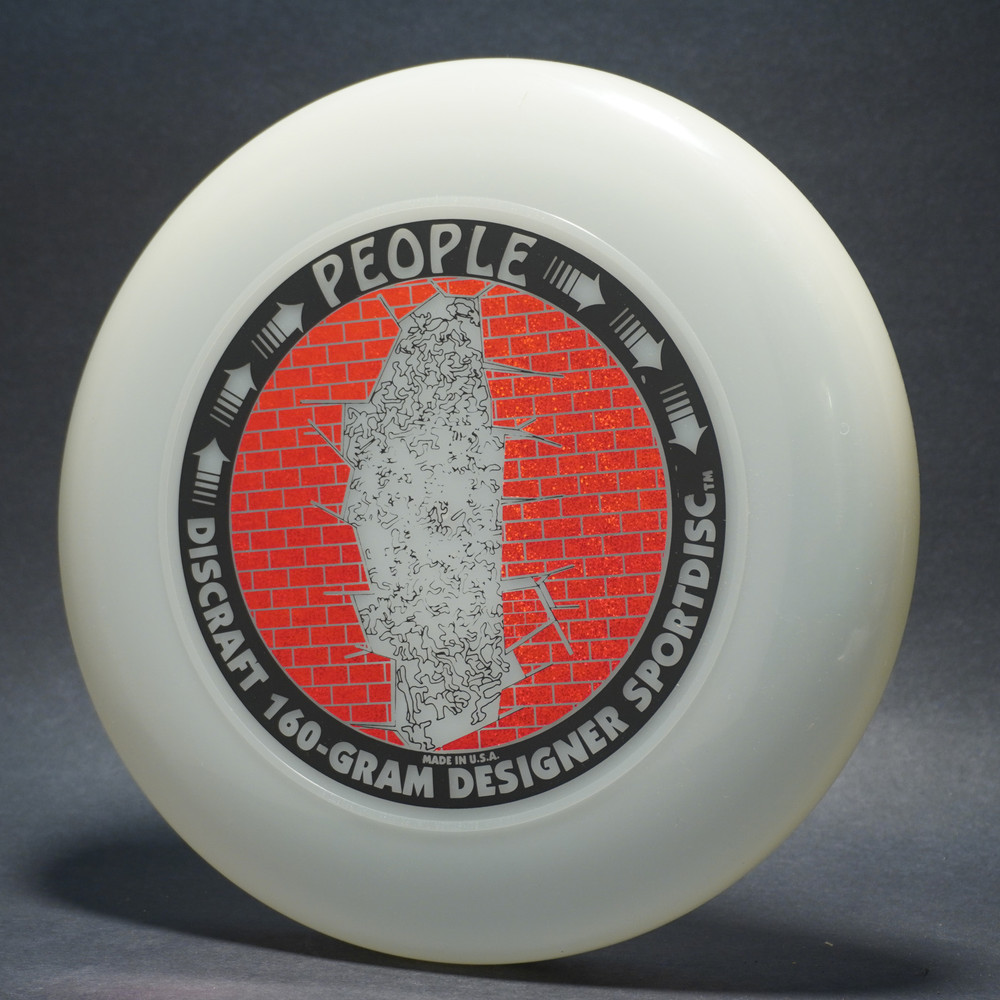 Sky-Styler Discraft People UV Plastic (Clear) w/ Metallic Red Sparkle Prism Brick and Black Matte People - T90 - Top View