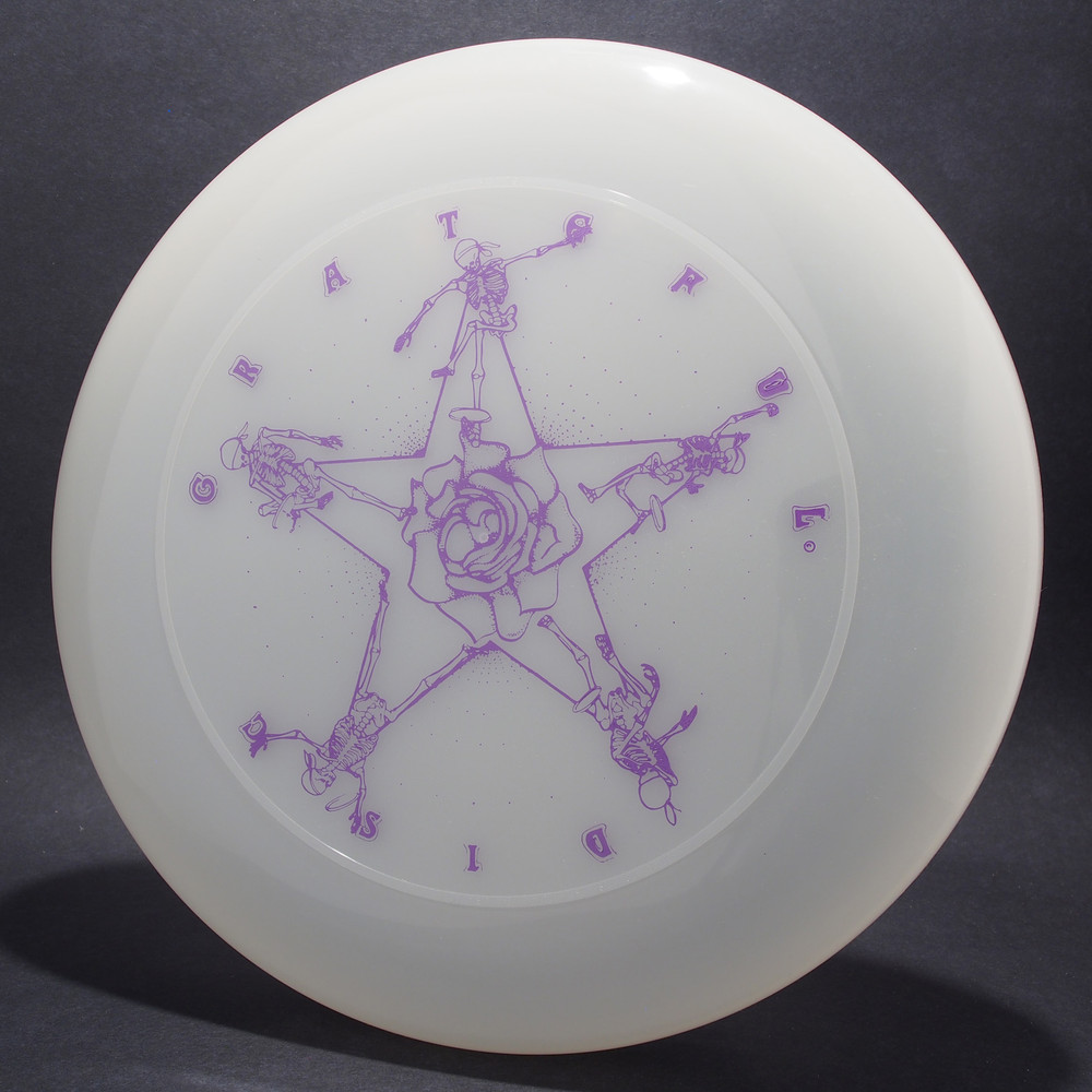 Sky-Styler Grateful Disc Skeletons and Rose Clear w/ Purple Matte-T80 - Top View