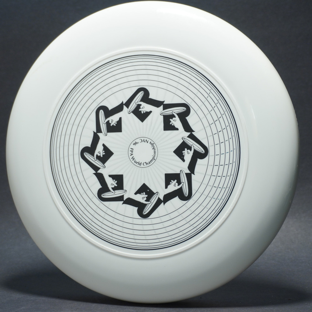 Sky-Styler FPA World Championships NYC 1996 White w/ Metallic Silver and Black Matte - T90 - Top View