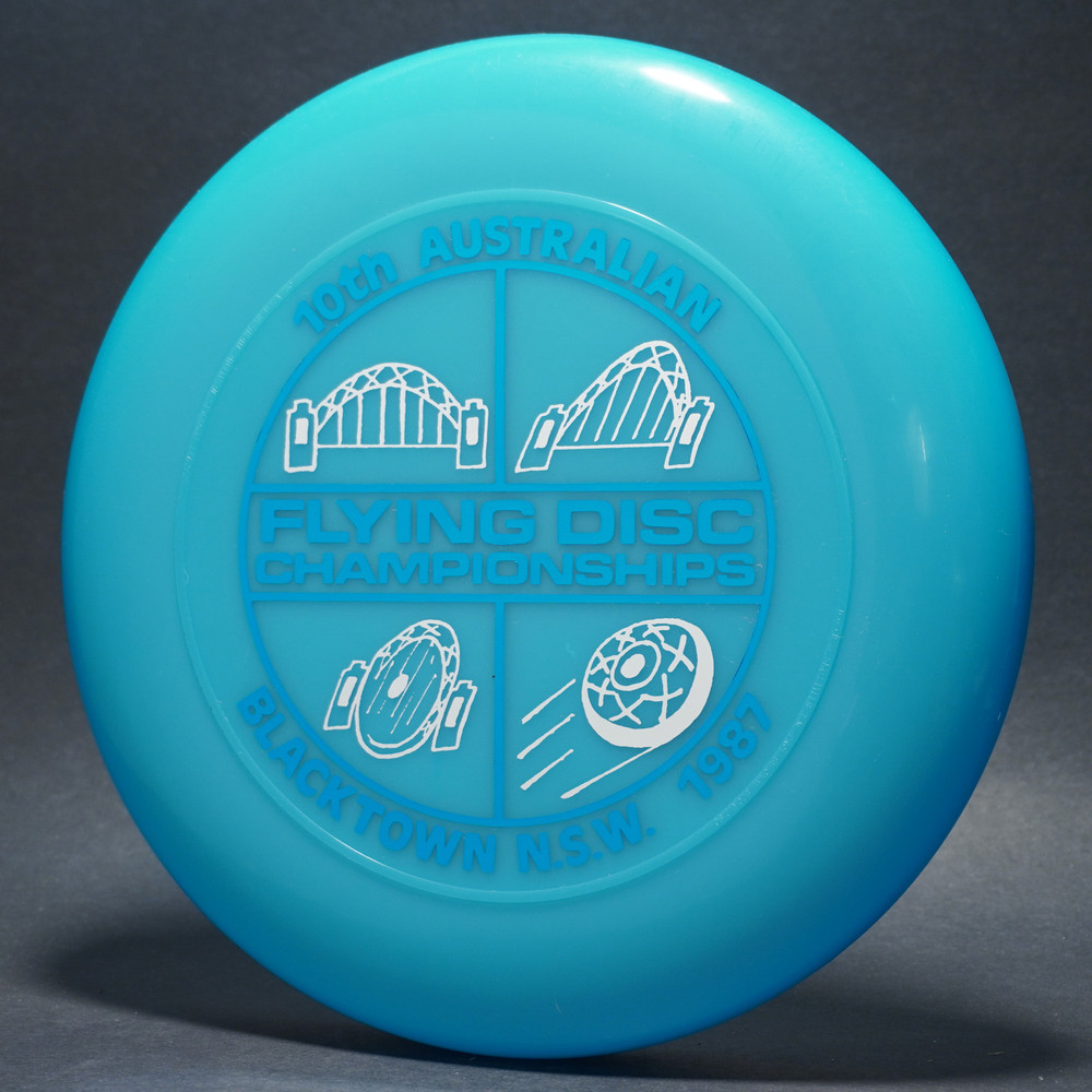 Sky-Styler 1987 10th Australian Flying Dic Championships Blue w/ Metallic Blue and Silver - T80 - Top View