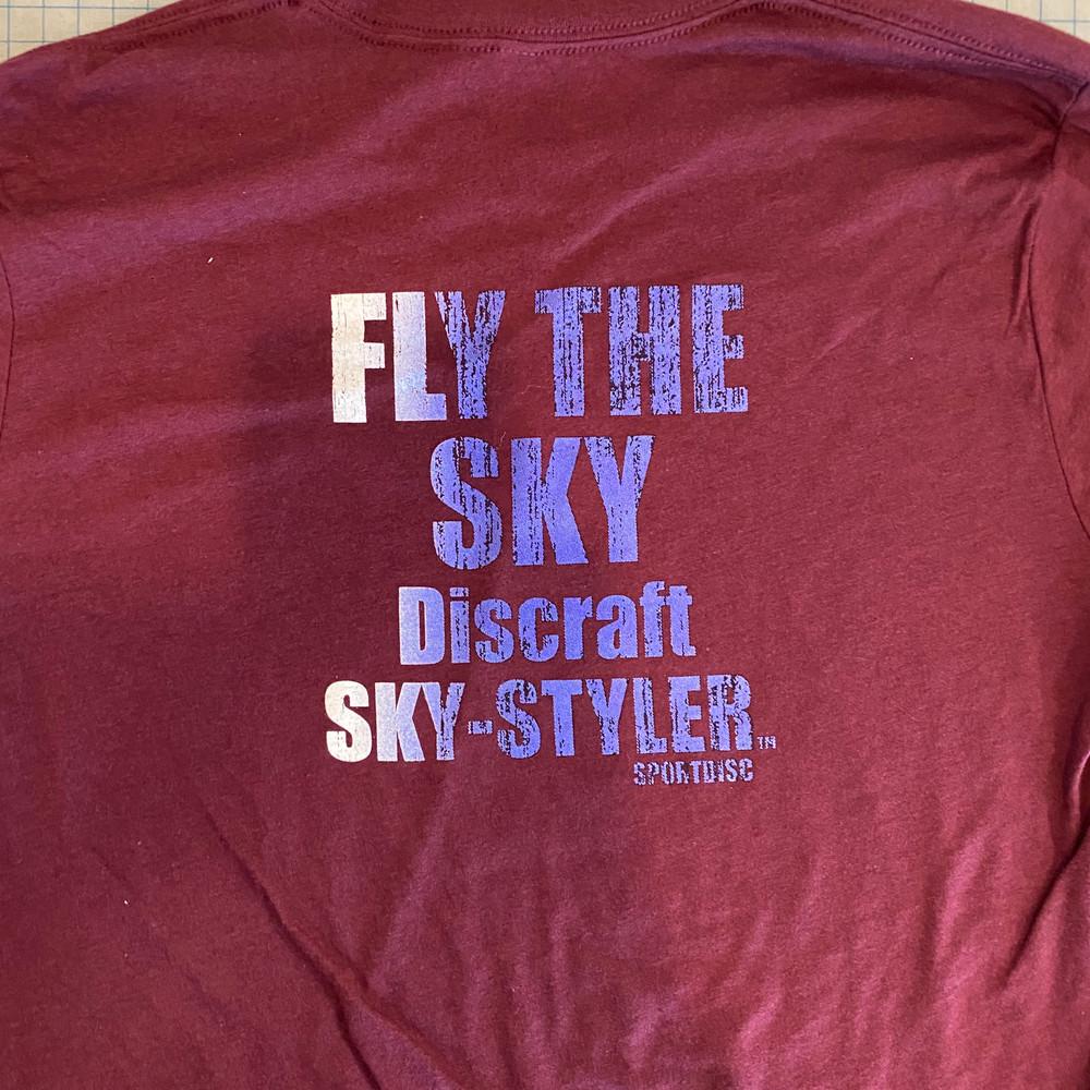 FLY THE SKY T-SHIRT - LONG SLEEVE RETRO RE-PRINT