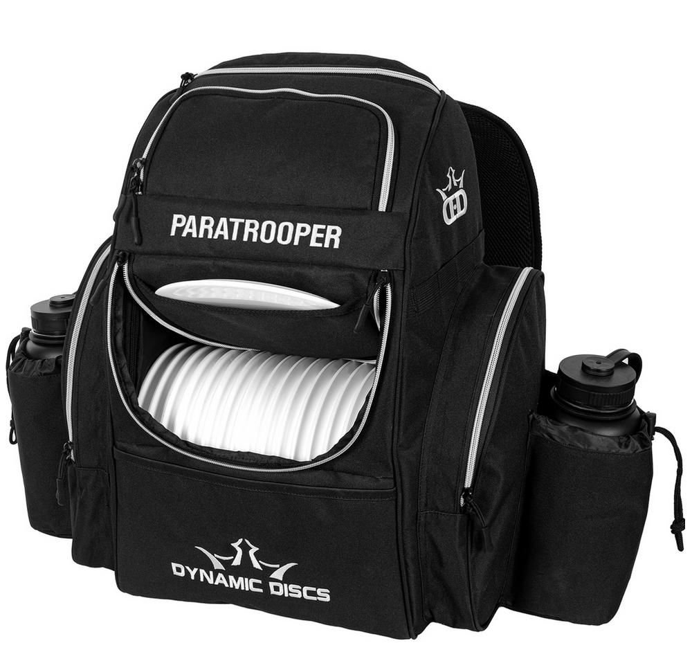 Paratrooper Backpack Disc Golf Bag - Black