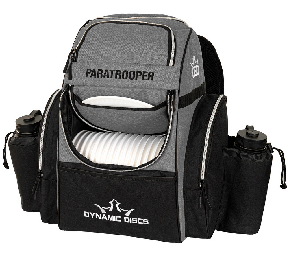Paratrooper Backpack Disc Golf Bag - Gray Heather and Black