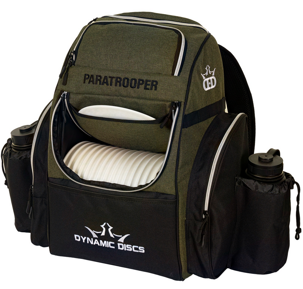Paratrooper Backpack Disc Golf Bag - Olive and Black