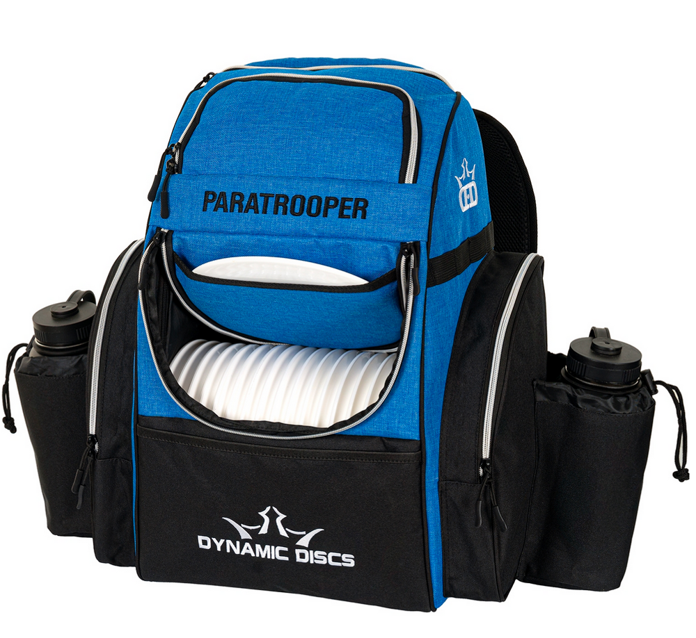Paratrooper Backpack Disc Golf Bag - Blue Heather and Black
