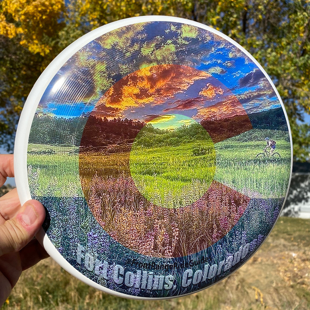 Discraft UltraStar (SuperColor) Fort Collins, Colorado Outside Sunlight Top View