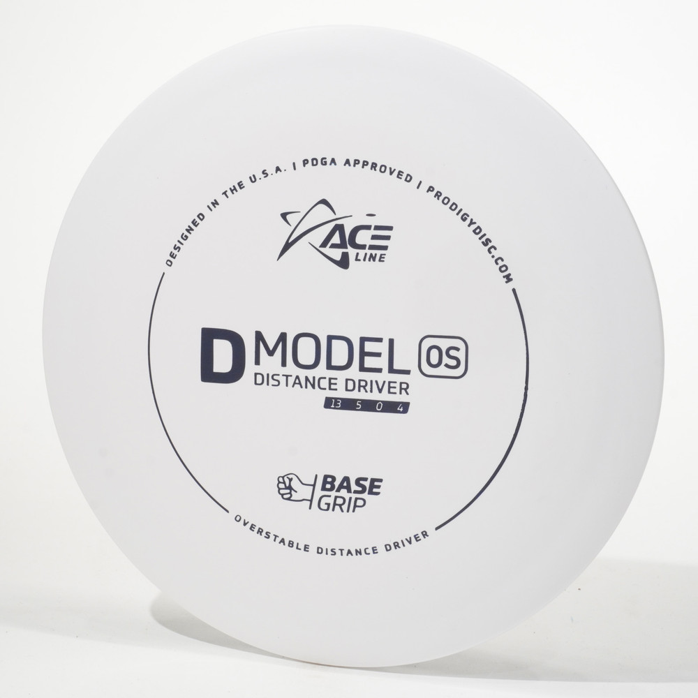 Prodigy Ace Line D Model OS (Base Grip) White Top View
