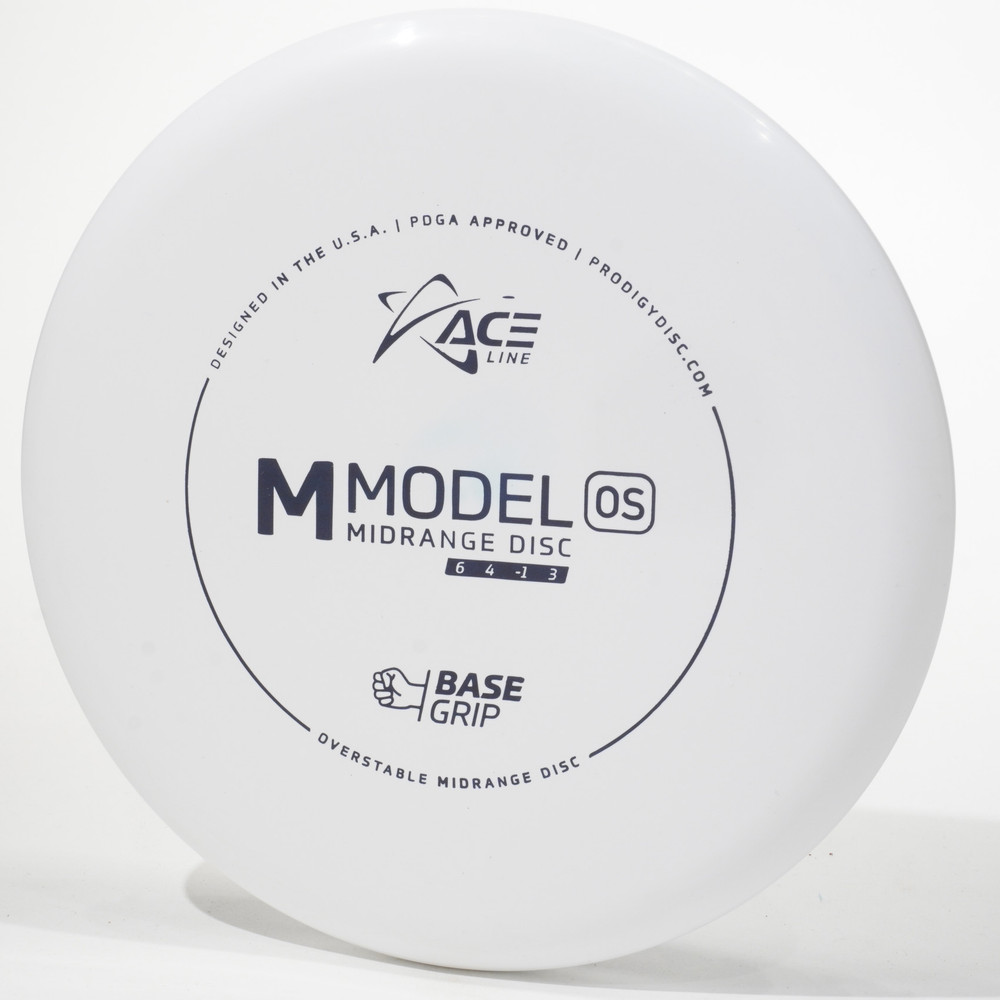 Prodigy Ace Line M Model OS (Base Grip) White Top View