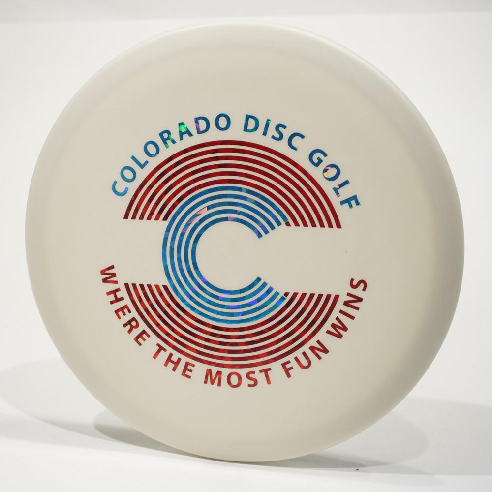 Innova Roc (Glow DX) Flat Top - Colorado Disc Golf Stamp
