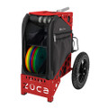 ZUCA ALL TERRAIN DISC GOLF CART - Gunmetal/Red Frame
