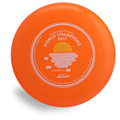 Discraft Sky-Styler FPA 2019 Design. Top view of orange disc.