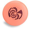 Wham-O 100 Mold FPA 2017 Design. Shows top view of an orange disc.