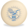 Innova Glow DX Roc showing top of disc with blue design of a large vulture bird.