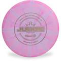 Dynamic Discs CLASSIC BURST JUDGE Disc Golf Putter & Approach - front view purple