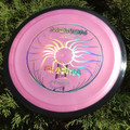 MVP PLASMA MOTION Disc Golf Driver - front view pink showing foil in detail