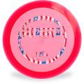 Hyzer Bomb RECON MARKSMAN Driver Golf Disc Pink w/ Flag Foil Front View