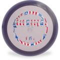 Hyzer Bomb RECON MARKSMAN Driver Golf Disc Purple w/ Flag Foil Front View