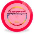 Hyzer Bomb RECON MARKSMAN Driver Golf Disc Pink w/ Rainbow Foil Front View
