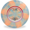 Streamline COSMIC NEUTRON FLARE - Swirly Disc Golf Driver - swirly blue and salmon color front view