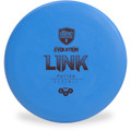 Discmania Evolution EXO SOFT LINK Putter & Approach Golf Disc Top View Blue