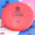 Discmania Evolution EXO SOFT LINK Putter & Approach Golf Disc - five discs of different colors spread out and overlapping with a red disc centered in the frame