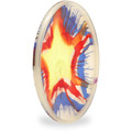 Hero Disc Super Sonic 215 Ice Dye Top Dye Canine Flying Disc - Asst Dyes Angled Bottom View