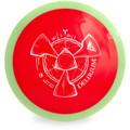 Axiom NEUTRON DELIRIUM Distance Driver Golf Disc Top View Red/Green