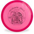 Westside Discs VIP GATEKEEPER Mid-Range Golf Disc Top View Pink