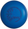 Blue Jawz dog disc top view