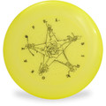 Discraft SKY-STYLER FREESTYLE DISC - GRATEFUL DISC *Choose Color* Frisbee Flyer Top View Yellow