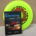 """Discraft SKY-STYLER + BONUS FREESTYLE DVD - Grateful Disc Roses Design  - shows yellow disc with a """"Secrets of Pro Disc Freestyle"""" DVD both leaning up against a wall."""