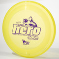 Hero Disc SUPER HERO Dog Frisbee 235mm Canine Flying Disc Yellow Top View
