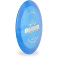 Dynamic Discs Lucid Raider Distance Driver Blue Angled Top View