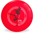 WHAM-O 100 MOLD FRISBEE - Custom FPA 2020 Design Red Top View