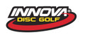 Innova Logo Sticker. Shows one sticker with traditional colors of white, yellow and red on black.