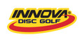 Innova Logo Sticker. Shows one sticker in black and red on yellow background.