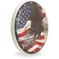 Discraft SUPERCOLOR ULTRA STAR - USA Flag Eagle Design Angled Top View