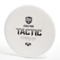 Top view of a white Discmania Evolution Tactic (Exo Hard)