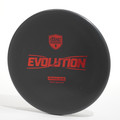 Top view of a black Discmania Evolution Tactic (Exo Soft) Primal Run with a copper foil stamp.