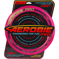 """Aerobie PRO FLYING RING - 13"""" Assorted Colors - top view of pink ring in packaging"""