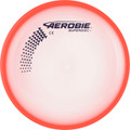 Aerobie SUPERDISC Flying Disc - Super Accurate & Stable. Shows top view of red disc.