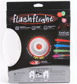 Nite Ize FLASHFLIGHT - LED Light Up Flying Disc - back view of red disc in box